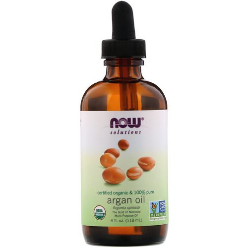 Now Foods, Solutions, Certified Organic & 100% Pure Argan Oil, 4 fl oz (118 ml) فوائد
