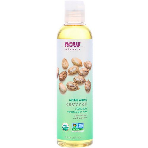 Now Foods, Solutions, Certified Organic Castor Oil, 8 fl oz (237 ml) فوائد