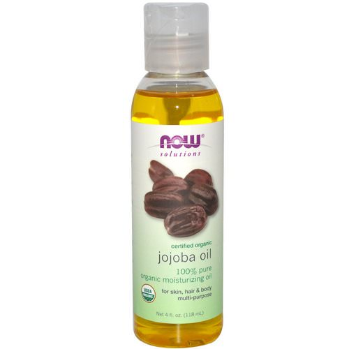 Now Foods, Solutions, Certified Organic, Jojoba Oil, 4 fl oz (118 ml) فوائد