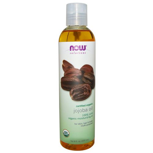 Now Foods, Solutions, Certified Organic, Jojoba Oil, 8 fl oz (237 ml) فوائد