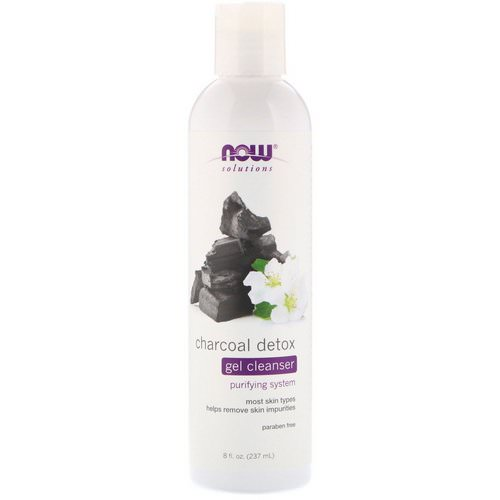 Now Foods, Solutions, Charcoal Detox Gel Cleanser, 8 fl oz (237 ml) فوائد
