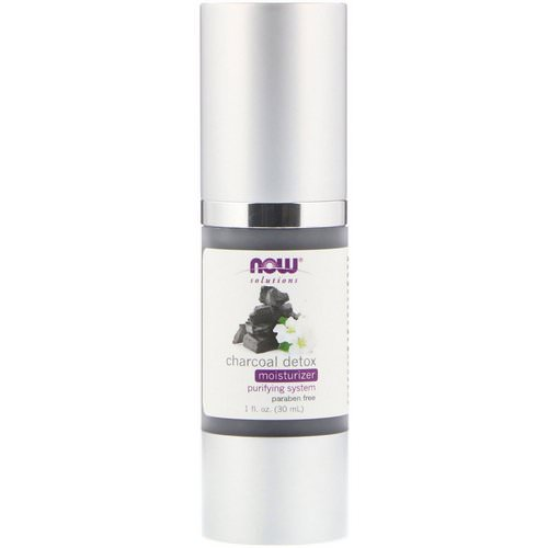 Now Foods, Solutions, Charcoal Detox Moisturizer, 1 fl oz (30 ml) فوائد