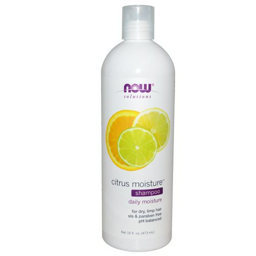 Now Foods, Solutions, Citrus Moisture Shampoo, 16 fl oz (473 ml) فوائد