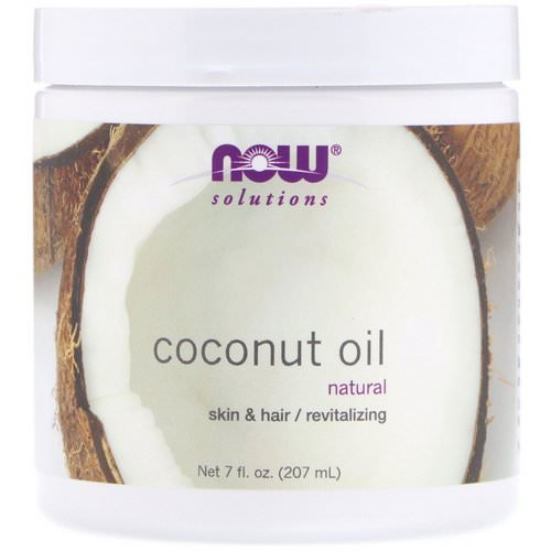 Now Foods, Solutions, Coconut Oil, 7 fl oz (207 ml) فوائد