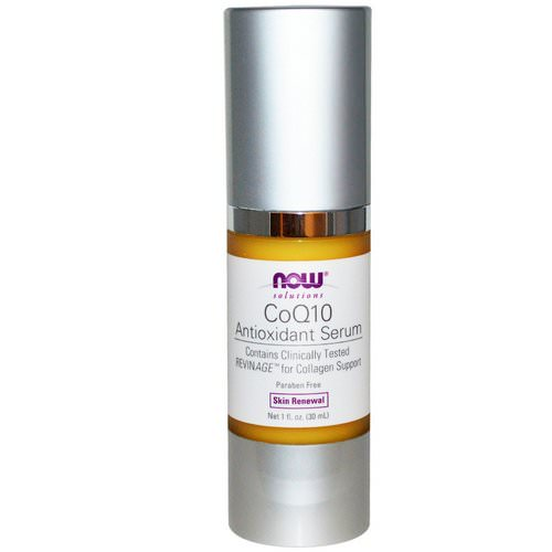 Now Foods, Solutions, CoQ10 Antioxidant Serum, 1 fl oz (30 ml) فوائد
