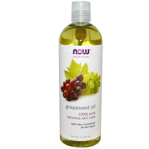 Now Foods, Solutions, Grapeseed Oil, 16 fl oz (473 ml) فوائد