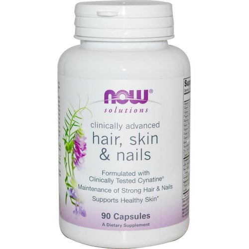 Now Foods, Solutions, Hair, Skin & Nails, 90 Capsules فوائد