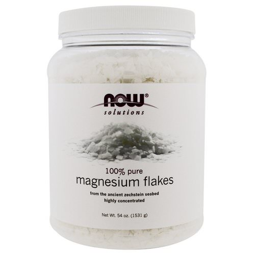 Now Foods, Solutions, Magnesium Flakes, 100% Pure, 3.37 lbs (1531 g) فوائد