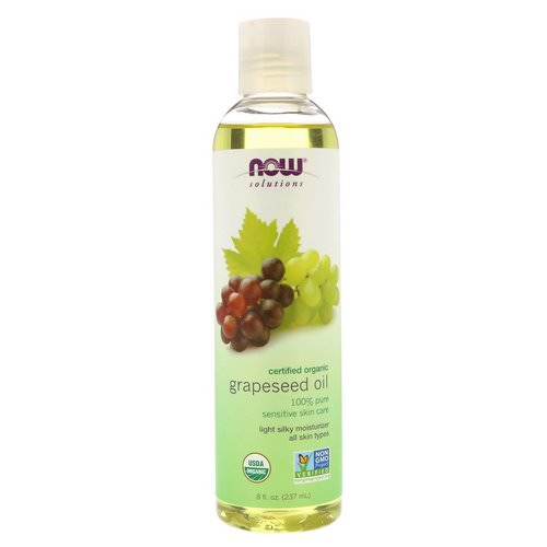 Now Foods, Solutions, Organic Grapeseed Oil, 8 fl oz (237 ml) فوائد