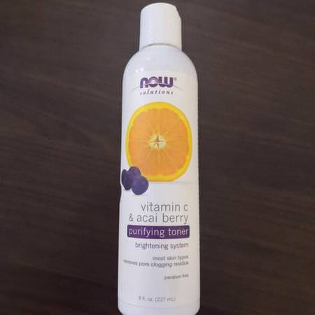 Now Foods Toners Vitamin C Beauty - فيتامين C, أحبار, فرك, نغمة