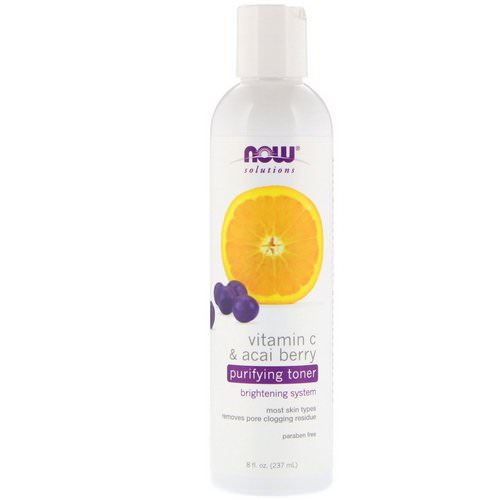 Now Foods, Solutions, Purifying Toner, Vitamin C & Acai Berry, 8 fl oz (237 ml) فوائد