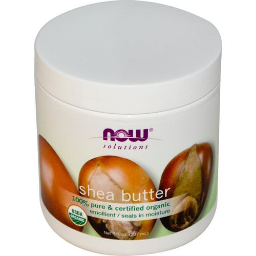 Now Foods, Solutions, Shea Butter, Certified Organic, 7 fl oz (207 ml) فوائد
