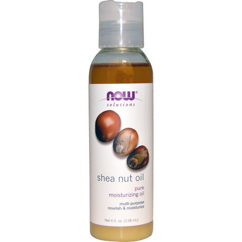 Now Foods, Solutions, Shea Nut Oil, Pure Moisturizing Oil, 4 fl oz (118 ml) فوائد