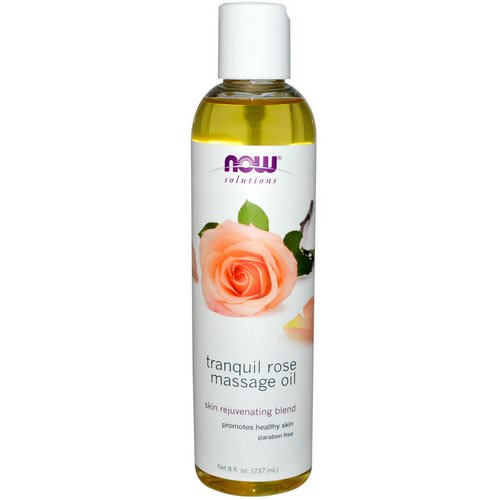 Now Foods, Solutions, Tranquil Rose Massage Oil, 8 fl oz (237 ml) فوائد