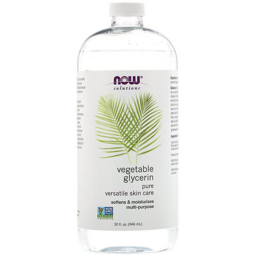 Now Foods, Solutions, Vegetable Glycerin, 32 fl oz (946 ml) فوائد