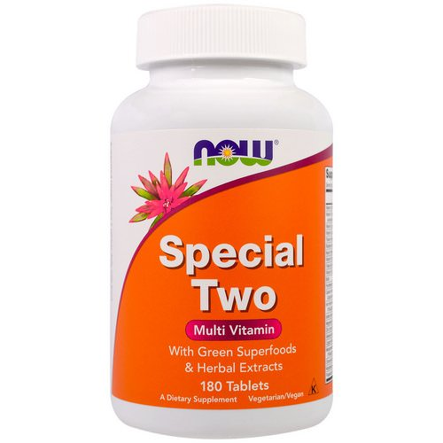 Now Foods, Special Two, Multi Vitamin, 180 Tablets فوائد