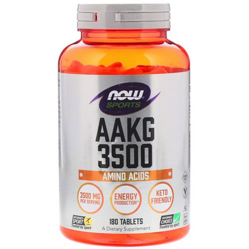 Now Foods, Sports, AAKG 3500, Amino Acids, 180 Tablets فوائد