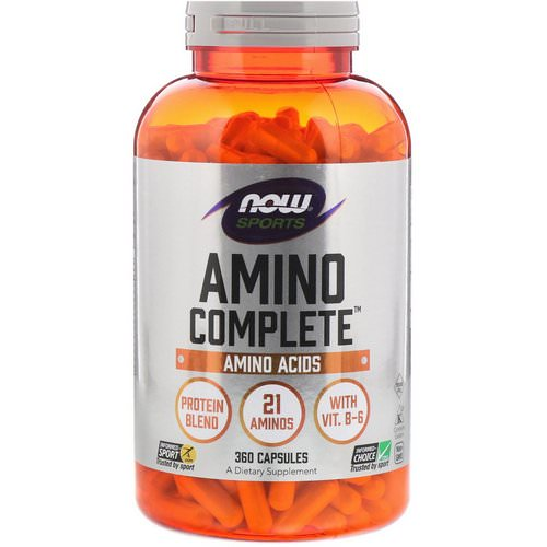 Now Foods, Sports, Amino Complete, 360 Capsules فوائد