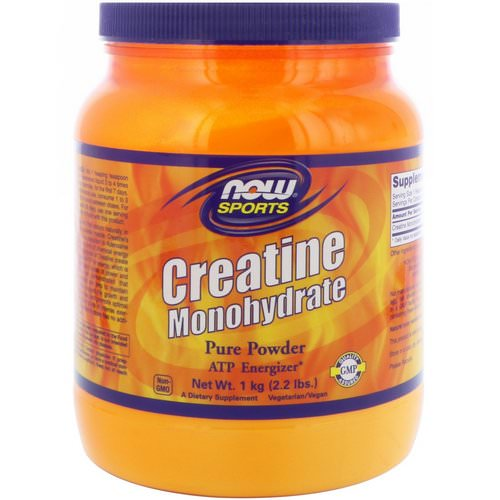 Now Foods, Sports, Creatine Monohydrate, Pure Powder, 2.2 lbs (1 kg) فوائد