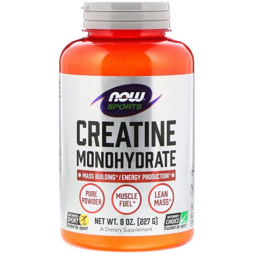 Now Foods, Sports, Creatine Monohydrate, Pure Powder, 8 oz (227 g) فوائد