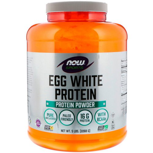 Now Foods, Sports, Egg White Protein Powder, 5 lbs (2268 g) فوائد
