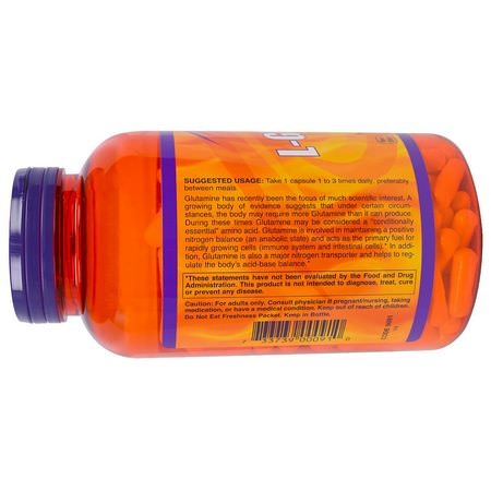 Now Foods L-Glutamine - L-Glutamine, أحماض أمينية, مكملات