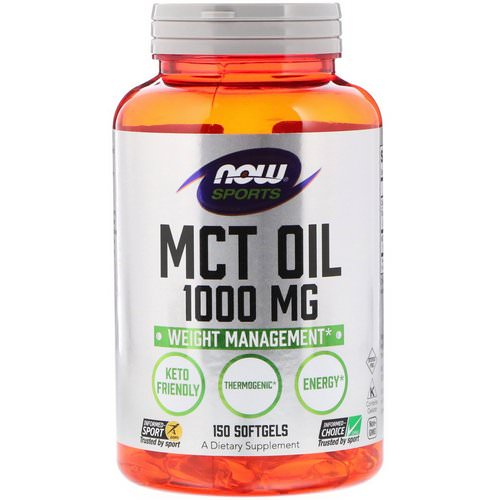 Now Foods, Sports, MCT Oil, 1,000 mg, 150 Softgels فوائد