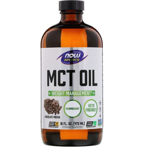 Now Foods, Sports, MCT Oil, Chocolate Mocha, 16 fl oz (473 ml) فوائد