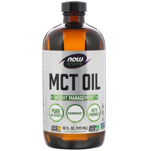 Now Foods, Sports, MCT Oil, Unflavored, 16 fl oz (473 ml) فوائد