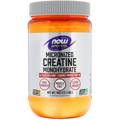 Now Foods, Sports, Micronized Creatine Monohydrate, 1.1 lbs (500 g) فوائد