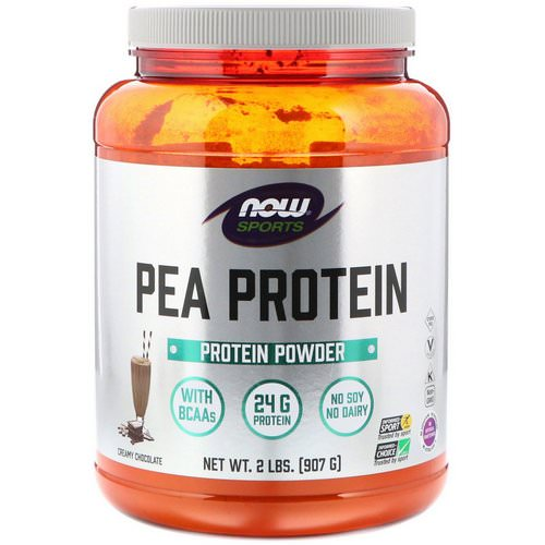 Now Foods, Sports, Pea Protein, Creamy Chocolate, 2 lbs (907 g) فوائد
