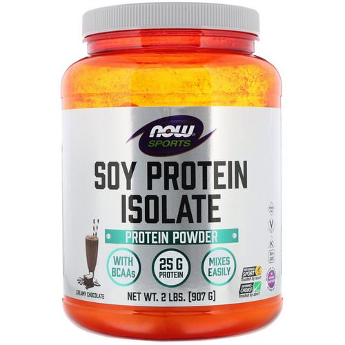 Now Foods, Sports, Soy Protein Isolate, Creamy Chocolate, 2 lbs (907 g) فوائد