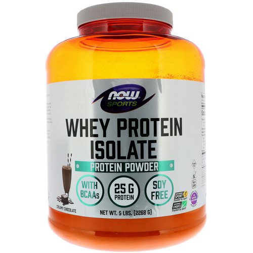 Now Foods, Sports, Whey Protein Isolate, Creamy Chocolate, 5 lbs (2268 g) فوائد