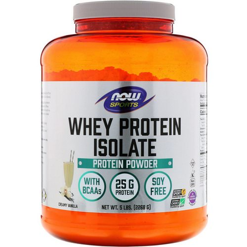 Now Foods, Sports, Whey Protein Isolate, Creamy Vanilla, 5 lbs. (2268 g) فوائد