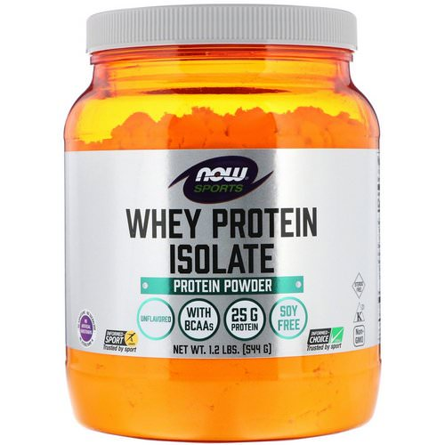 Now Foods, Sports, Whey Protein Isolate, Unflavored, 1.2 lbs (544 g) فوائد