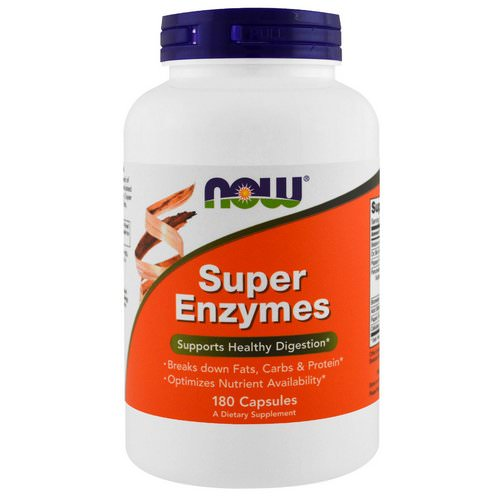 Now Foods, Super Enzymes, 180 Capsules فوائد