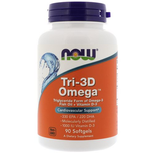 Now Foods, Tri-3D Omega, 330 EPA/220 DHA, 90 Softgels فوائد