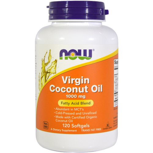 Now Foods, Virgin Coconut Oil, 1000 mg, 120 Softgels فوائد