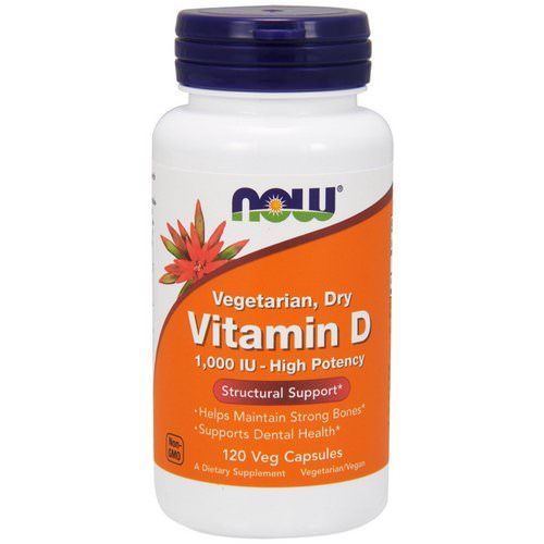 Now Foods, Vitamin D, High Potency, 1,000 IU, 120 Veg Capsules فوائد