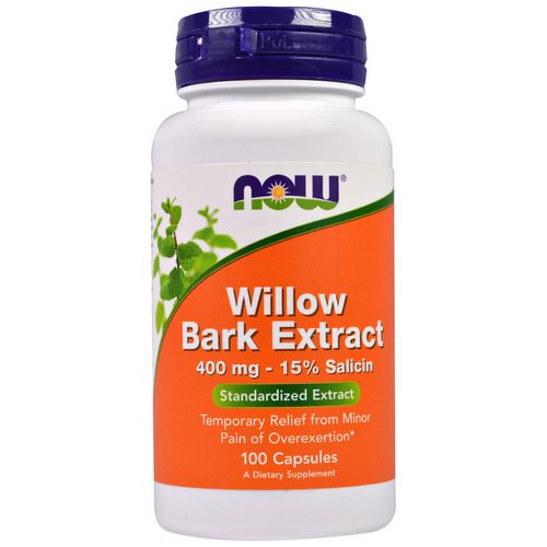 Now Foods, Willow Bark Extract, 400 mg, 100 Capsules فوائد