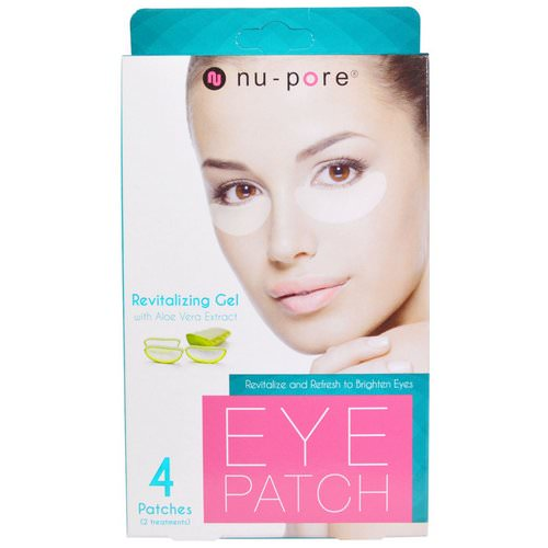 Nu-Pore, Revitalizing Gel Patches, With Aloe Vera Extract, 4 Patches فوائد