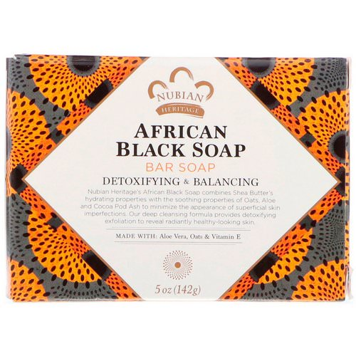 Nubian Heritage, African Black Bar Soap, 5 oz (142 g) فوائد
