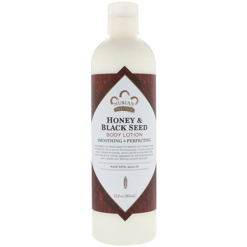Nubian Heritage, Body Lotion, Honey & Black Seed, 13 fl oz (384 ml) فوائد