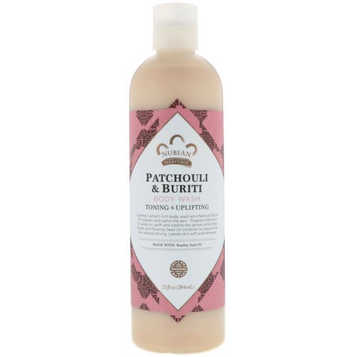 Nubian Heritage, Body Wash, Patchouli & Buriti, 13 fl oz (384 ml) فوائد
