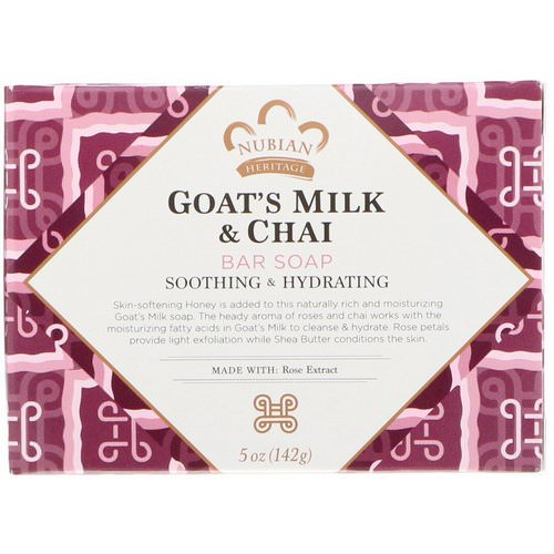 Nubian Heritage, Goat's Milk & Chai Bar Soap, 5 oz (142 g) فوائد