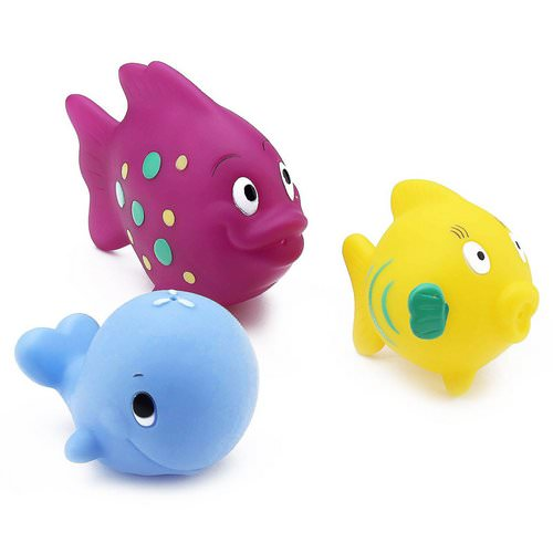 Nuby, Fun Fish Squirters, 6+m, 3 Pack فوائد