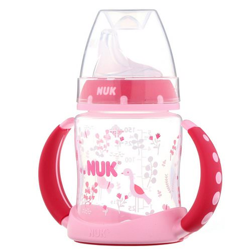 NUK, Learner Cup, 6+ Months, Pink, 1 Cup, 5 oz (150 ml) فوائد