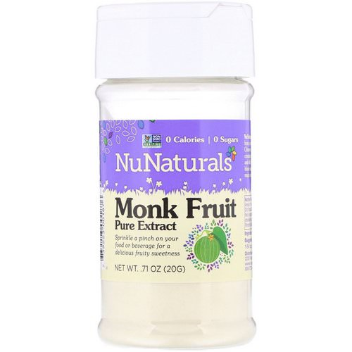 NuNaturals, Monk Fruit Pure Extract, .71 oz (20 g) فوائد