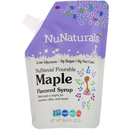 NuNaturals, NuStevia, Pourable Maple Flavor Syrup, 6.6 fl oz (.2 l) فوائد