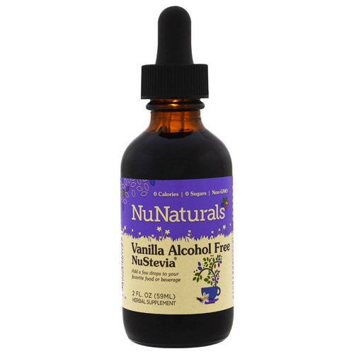 NuNaturals, Alcohol Free NuStevia, Vanilla, 2 fl oz (59 ml) فوائد